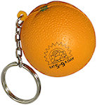 Orange Key Chain Stress Balls